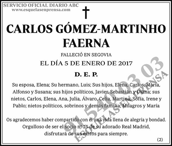 Carlos Gómez-Martinho Faerna